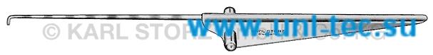 Крючкообразный зонд и ретрактор, градуированный, длина 8,5 см., крючок 2 мм