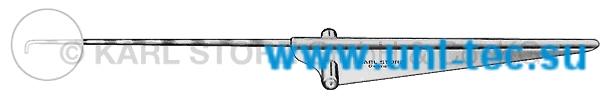 Крючкообразный зонд и ретрактор, градуированный, длина 8,5 см., длина крючка 4 мм, ? 3.5 мм