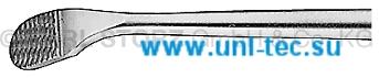 Рашпиль, узкий, загнутый, тонкий, длина 13 см